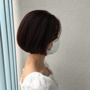 ボブスタイル 前髪長めバージョン(横)