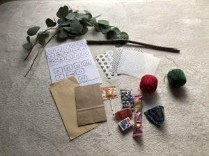 手作りアドベントカレンダーの材料