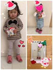クリスマスイベント お菓子と写真をプレゼント