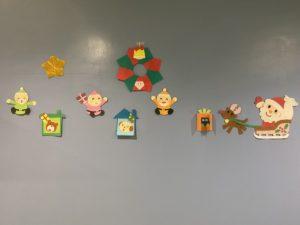 クリスマスの壁飾り