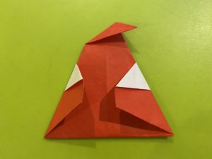 簡単なサンタさんの折り紙の折り方