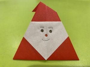 簡単なサンタさんの折り紙 完成
