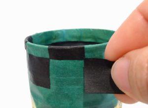 空き缶のペン立てリメイク ④マステやビニールテープでデコレーション
